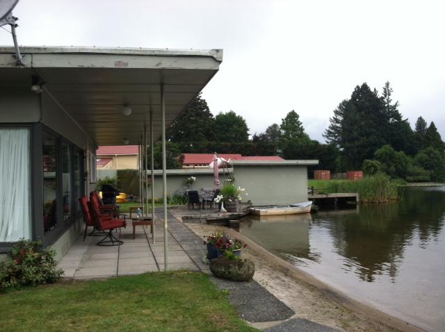 Mal and Jen's home on Lake Rotoriti in Okere Falls, Rotoru