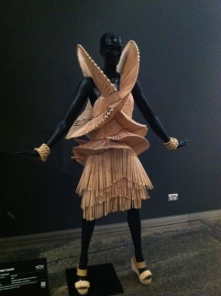 Dress made entirely of chop sticks!