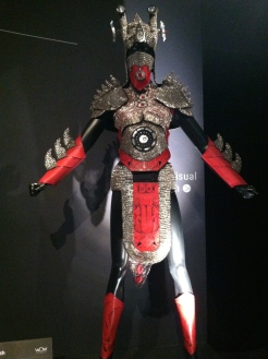 This amazing outfit is made of bra hooks!