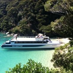 Cruising Abel Tasman on the Sea Shuttle