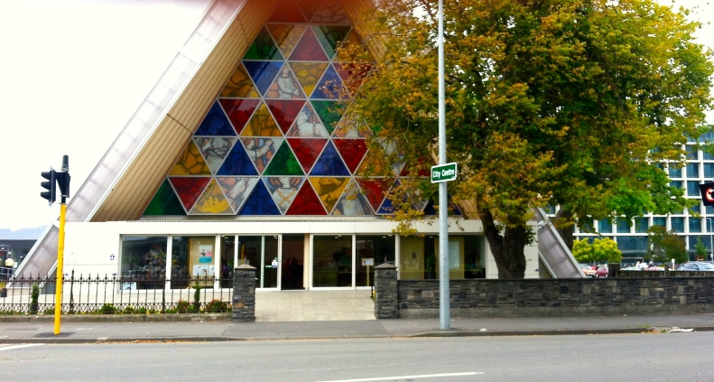 "The transitional Christchurch Cathedral also known as the ""Cardboard"" Cathedral as it is the world's only cathedral made substantially of cardboard!"