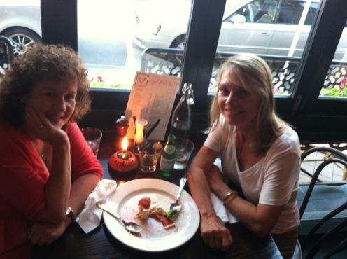 Enjoying dinner in Christchurch with Ashley!