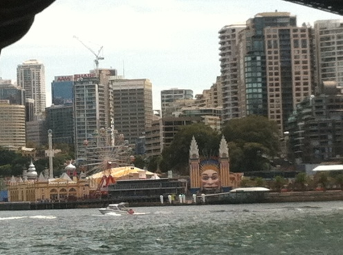 Looking across the harbor at Luna Park.