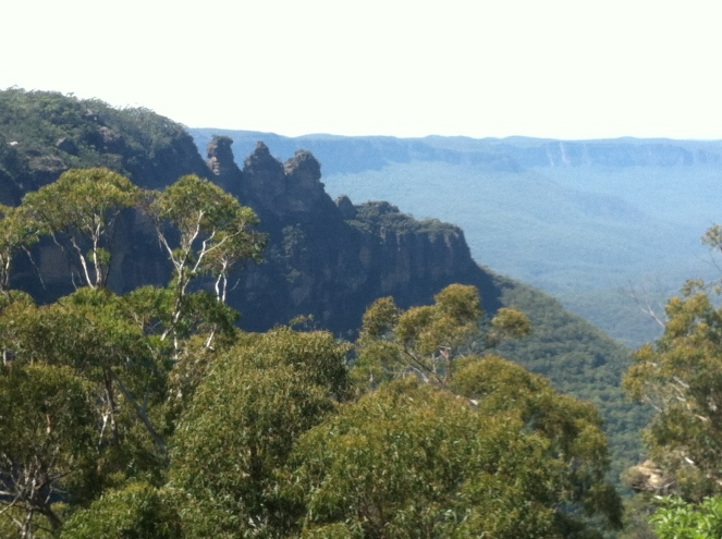 View of the Blue Mountains included in the National Heritage List in 2007.