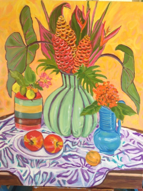 Another still life painting I completed while at Paul and Lani's home in The Pocket.