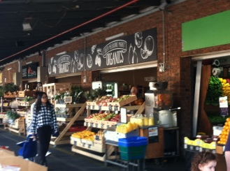 View of the South Melbourne market, my favorite! Not as large as the Queen Victoria but it has the same quality produce, fish, meats etc, but not as touristy with higher end shops.