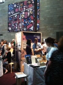 """Art Book Fair at the National Gallery of Victoria. I was able to browse and meet some of the most creative Australian and international publishers, designers, artists, and writers. """"Zines"""" ( self-published magazines) are being published by many of the small companies at this fair."""