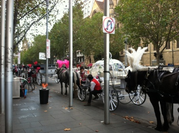 Another view of Swanston Street, in the CBD.