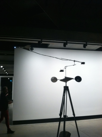One of the contraptions used to create wind drawings.