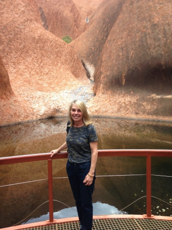 At the base of Uluru, on the Kuniya Walk. The beautiful Mutitjulu Waterhole.