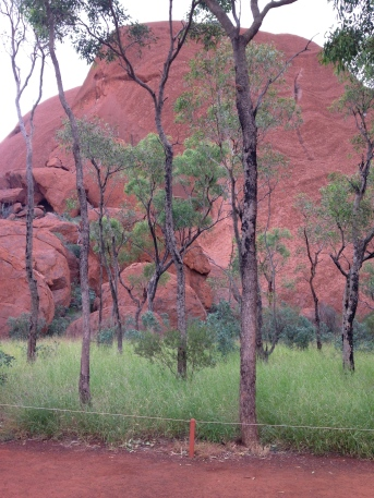 Another view of Uluru from the Kuniya Walk.