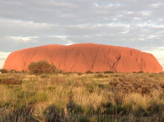 Sunset and the striking color changes of Uluru.