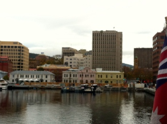 A view of the harbor from the MONA Roma ferry.