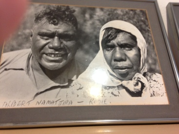 Albert Namatjra and his wife Rubina. Namatjira is famous for painting landscapes of Western Aranda Country.
