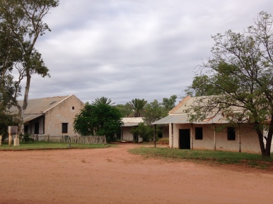 A view of Hermannsburg Mission. In 1982 control of the Mission lands was restored to the tradtional Aranda owners under the Aboriginal Lands Rights Act.