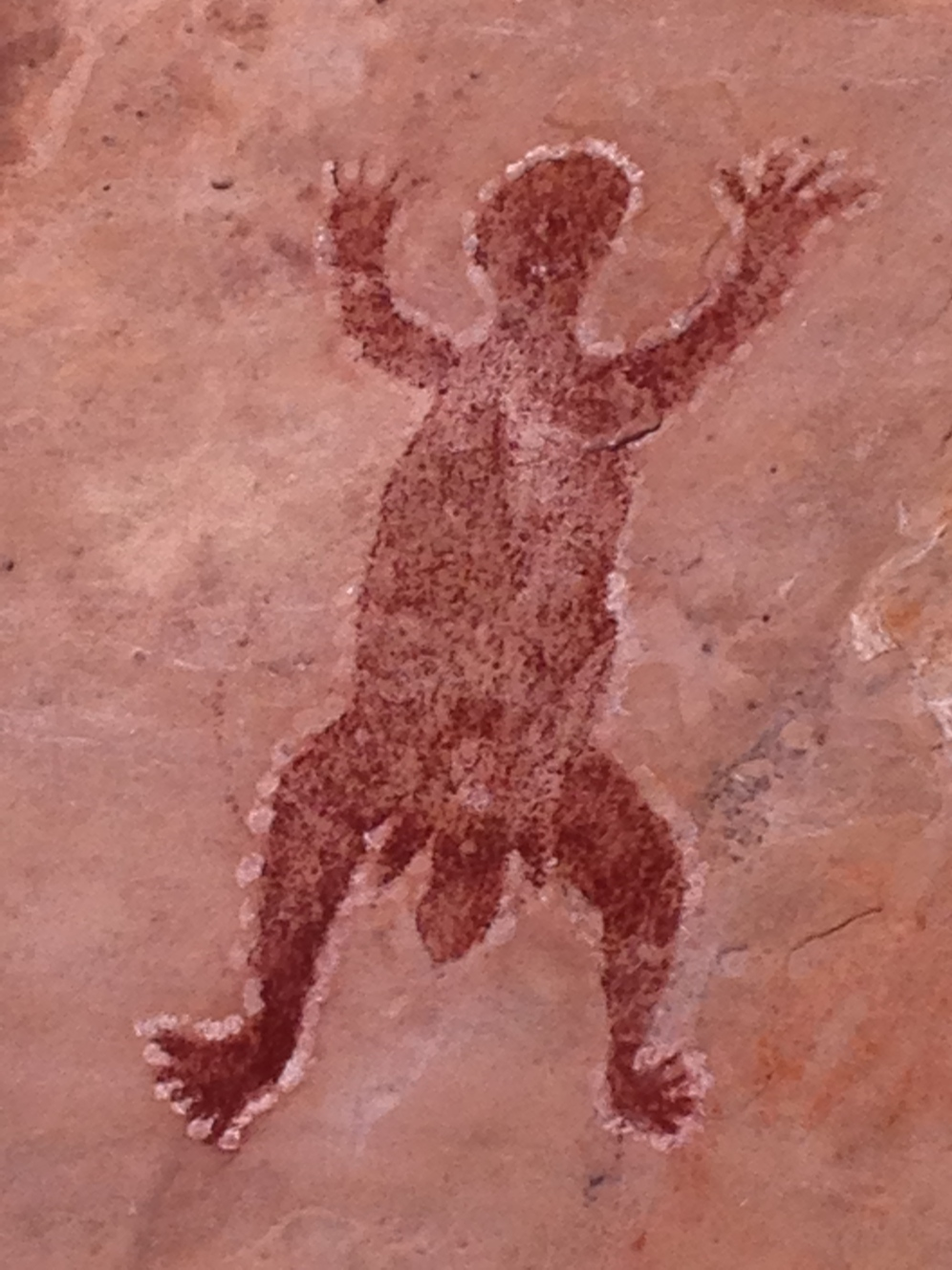 Aboriginal rock paintings at a location known to a few locals.