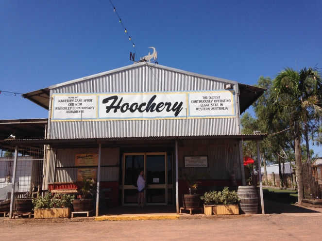The Hoochery is the oldest continuously operating legal still in Western Australia, owned and operated by a former California native. In addition to fine rum, the wife makes a terrific Ord River Rum cake!