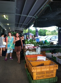 Nan, on the left at Rapid Creek Market.
