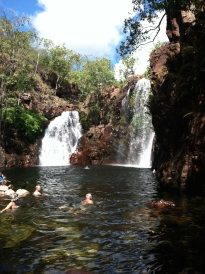 Florence Falls, my favorite. This is where you go to swim. No crocodiles here!