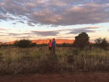 The changing colors and sky are like now where else in the world. Watching the sun set over the Bungle Bungles.