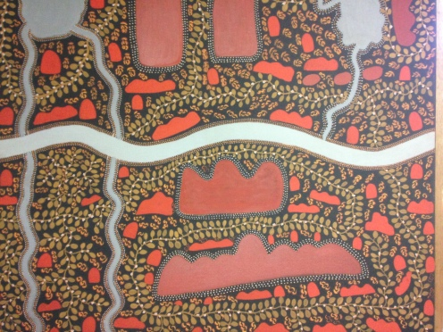 Canvas by Peggy Griffiths at the Kununurra Court House.