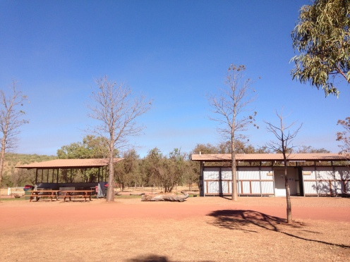 New showers and kitchen facility available to campers at El Questro, a must visit and only an hour from Kununurra.