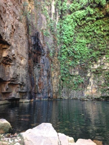 Inside Emma Gorge. It's hard to capture the height and depth of this dramatic gorge.