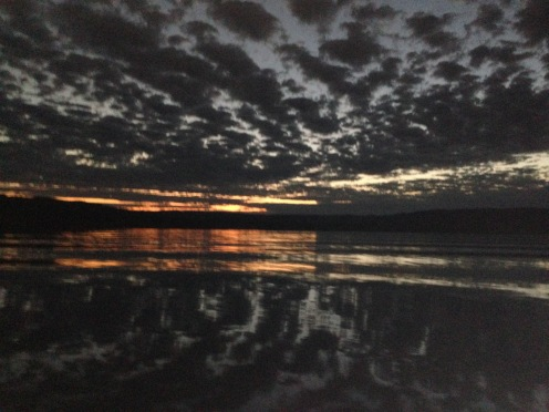 Sunset on Lake Argyle.