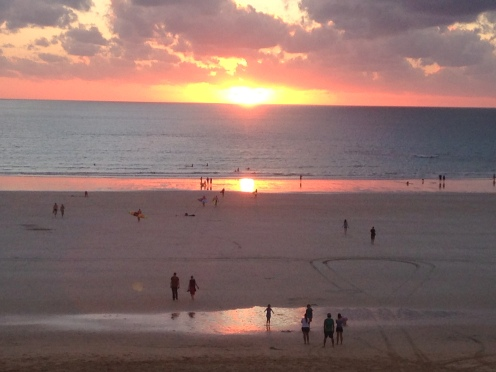 Spectacular sunsets each night at Cable Beach, named after an undersea telegraph cable that was laid in the late 1800s connecting Broome to Singapore.