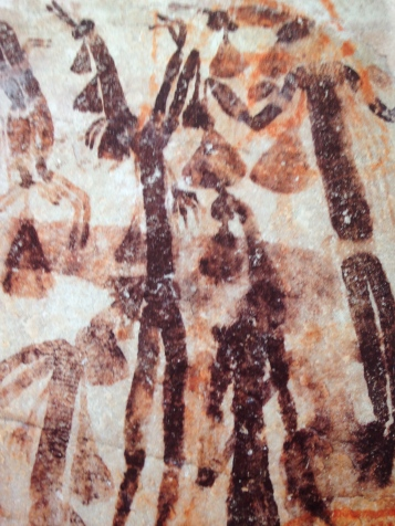 Called Gwion Gwion or Bradshaw paintings, found also in northwester Australia. They are considered to be the oldest figurative paintings in the world.