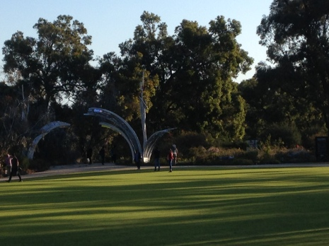 View of Kings Park in the late afternoon.