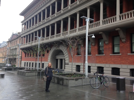 Outside the Como, the Treasury hotel, part of the heritage listed state building called The Treasury.