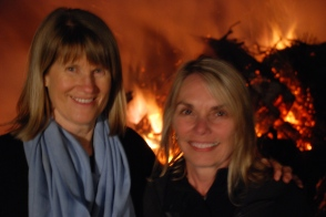 In front of the bonfire with Gayl!