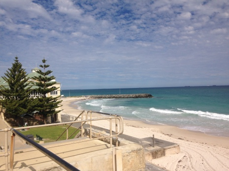 Another view of the ocean (Indian Ocean!) at City Beach.