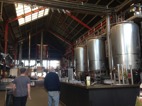 "Inside the ""Little Creatures"" brewery and restaurant in Freemantle. Considered by some to be one of the top ten beer gardens in Australia."
