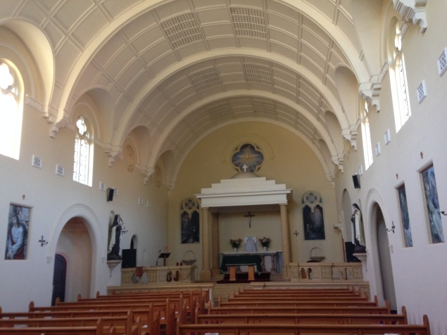 A view inside the Chapel at Carmelite Monastery in Dalkeith.