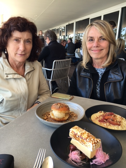 Incredible deserts to share at lunch at the Odyssea with Jasmine and Gayl (taking the picture).