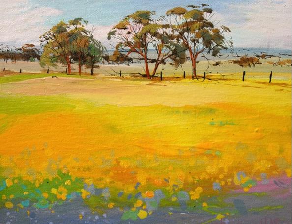 Acrylic on canvas by Jennifer Hopewell.