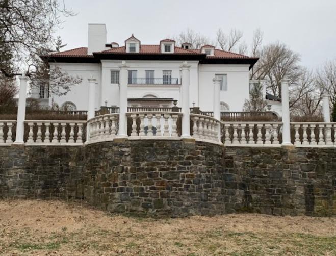 Back view of Madam CJ Walker mansion.