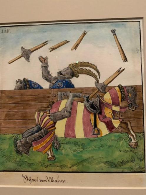 Joust of War in Field Armor. Date: 1512-15. Gouache with gold and silver highlights over pen, pencil, and lead point on paper.